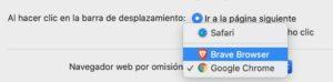 Establecer Brave como navegador predeterminado en MacOS