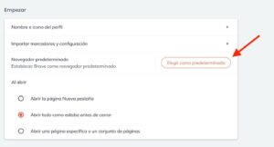 tutorial para establecer Brave como navegador predeterminado en Windows