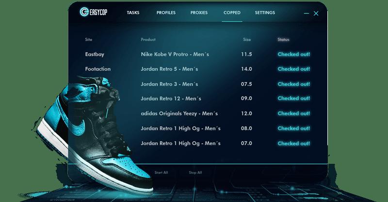 EasyCop Bot para comprar zapatillas