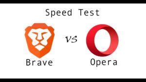 Velocidad de brave vs opera