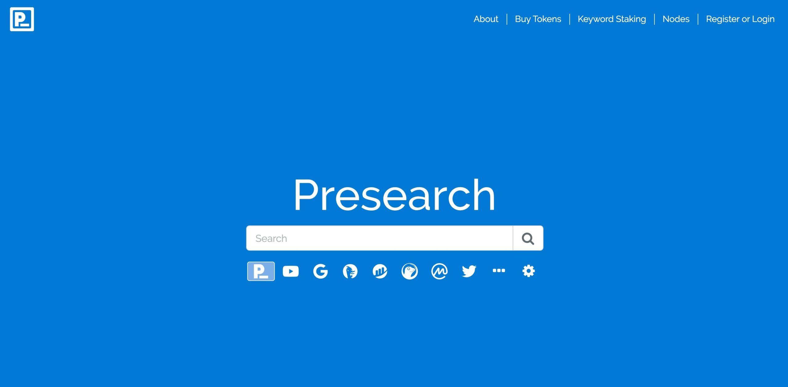 como funciona presearch